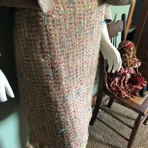 CHANEL Skirts - CHANEL lovely tweed-knee Length skirt size 44